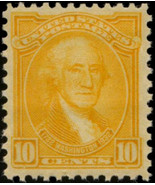 1932 10c Washington, G. Stuart, Orange Yellow Scott 715 Mint F/VF NH - $15.00