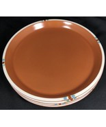 "Lot of 4 Dansk MESA Terracotta 10 1/4"" Dinner Plate Brown Southwest Desi... - $49.49"