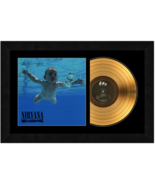 """""""Nevermind"""" by Nirvana 17x26 Framed 24kt Gold Album with Album Cover  - $198.95"""