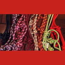 Rope Halter! Burgundy - Horse Size image 1