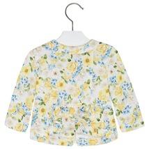 Mayoral Baby Girls Zip Front Floral Print Knit Jacket image 2