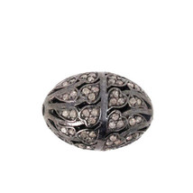 New Designer 1.10Ct Diamond Pave Finding 925 Sterling Silver Spacer Bead... - $201.03