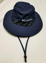 Columbia Sportswear Omni-Tech Bucket Hat Large Navy Blue Fishing Gardeni... - $24.24