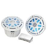 Poly-Planar MA-OC8 8 Round Waterproof Blue LED Lit Speaker - White - $313.14