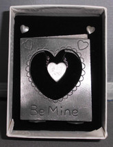 VTG NIB 3 & 1 Picture Frame, Earring, Necklace Set - Be Mine Hearts Book... - $19.80