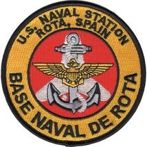 US Navy Naval Station ROTA Spain Patch BASE NAXAL DE ROTA - $11.87