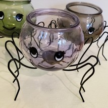 Spider Planter with Succulent, Halloween Pot, Sempervivum, Hens and Chicks image 9