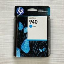 HP 940 Cyan Printer Ink Cartridge Officejet New Sealed Box (April/2014) - $13.37