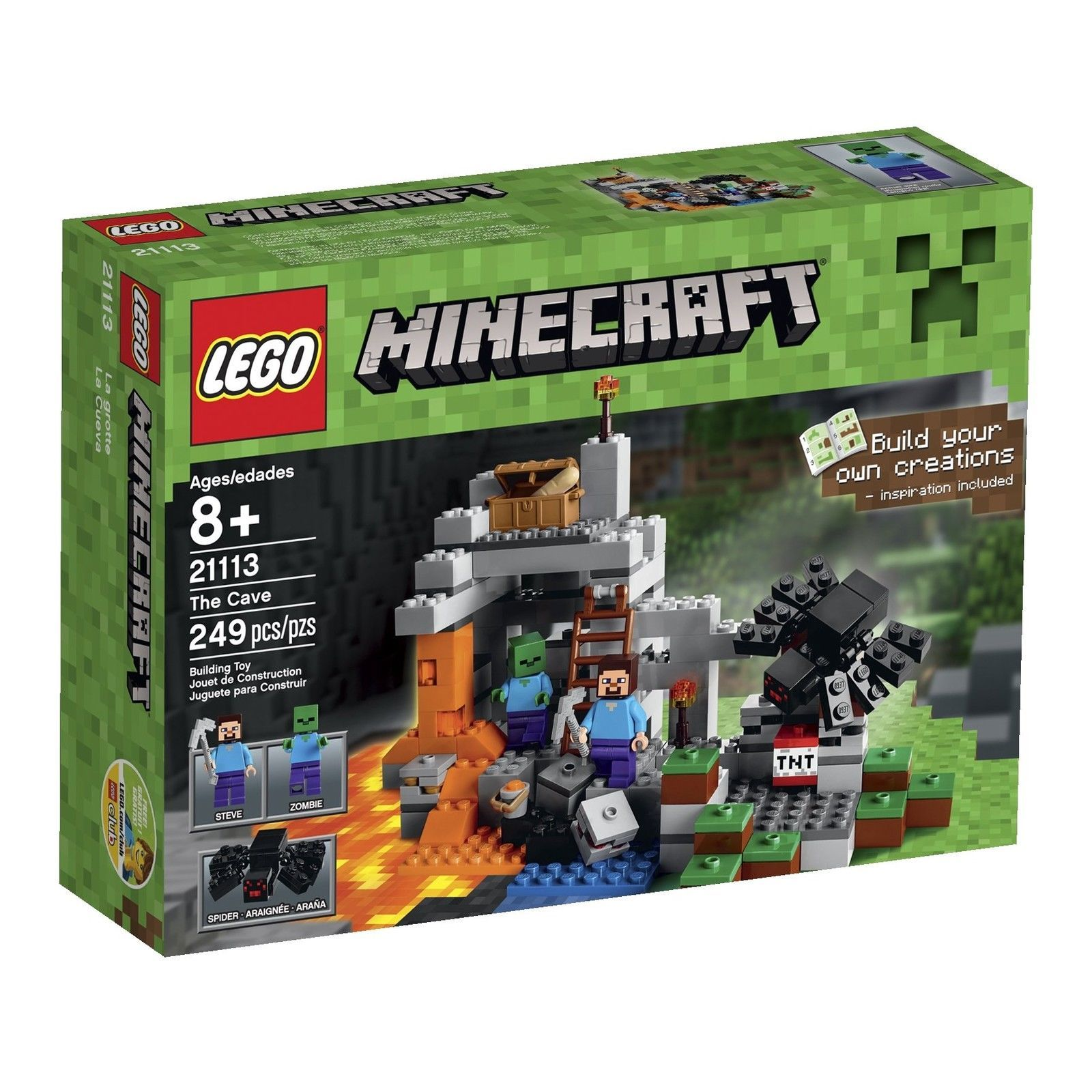 LEGO Minecraft The Cave 21113 [New] Building Toy Set