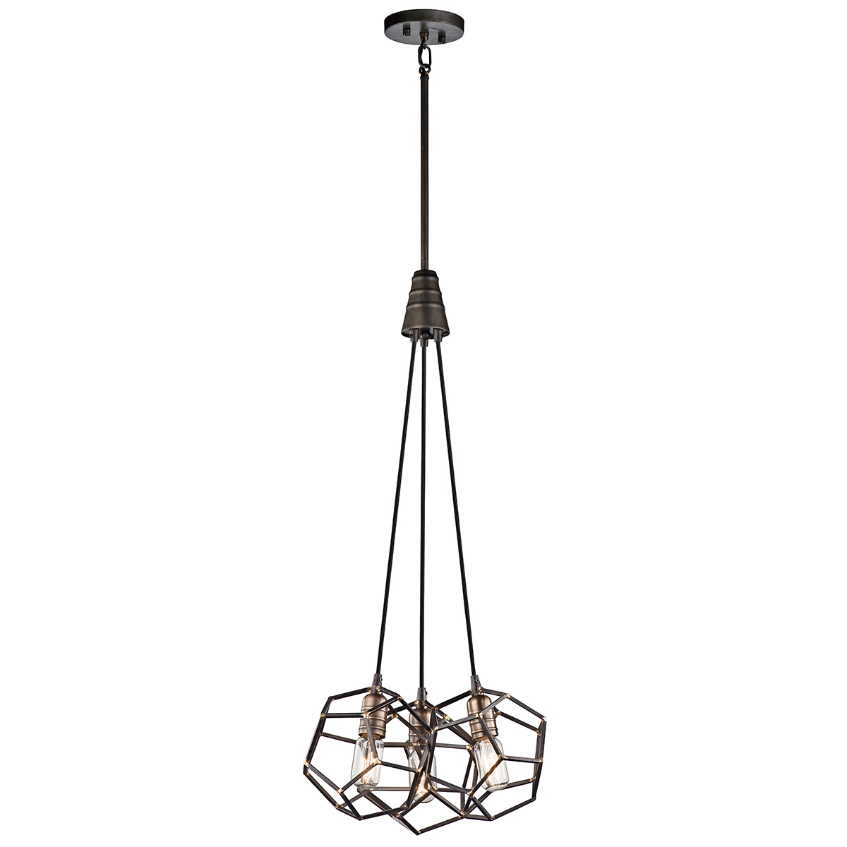 Primary image for Kichler 43717RS Rocklyn Pendants 18in Raw Steel STEEL 3-light