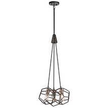 Kichler 43717RS Rocklyn Pendants 18in Raw Steel STEEL 3-light - $354.99