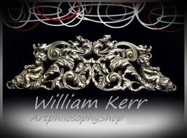 c1903 Antique William Kerr Repousse Sterling Silver Belt Buckle Superb C... - $399.00