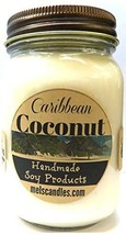 Caribbean Coconut 16oz Country Jar Handmade Soy Candle - €17,36 EUR