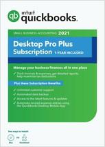 2 user QuickBooks Desktop PRO PLUS 2021. 1 year of Intuit Support. Subsc... - $299.99
