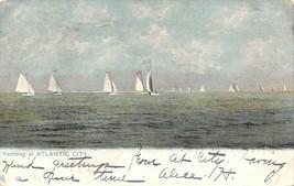 Atlantic City New Jersey~Sailboats Yachting~1907 UDB TUCK Postcard - $6.80