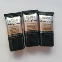 Lot of 3 Maybelline Master Strobing Liquid Illuminating Highlighter 200 Medium  - $14.01