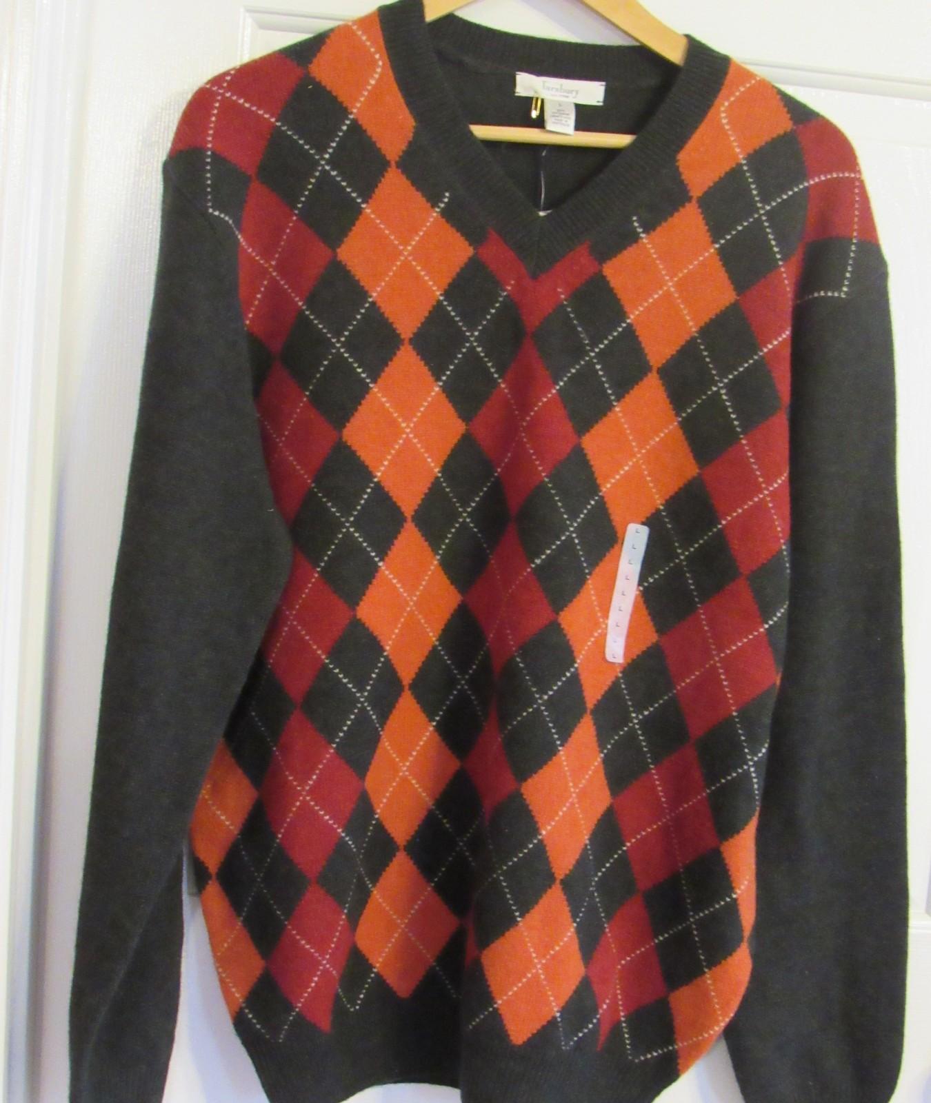 Turnbury Mans Extra Fine Merino Wool Pullover Brown L