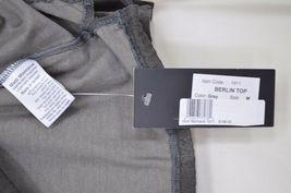 Matti Mamane top SZ M NWT dark gray drawstring waist scoop neck 3/4 sleeve new image 5
