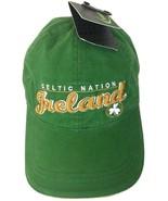 Celtic Nation Ireland Cap Hat Green Gold Clover Boston Saint Patrick St - $19.74