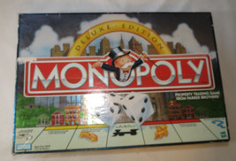 Monopoly Deluxe Edition Parker Brothers box has damage board game Pre Owned - $59.39