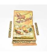 Vintage Legno Blocco Cubi 6-Sided Puzzle - $31.22