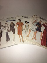 3 Vintage 1986 Vogue Very Easy  Pattern Sz 8 - 12 Uncut - $9.90