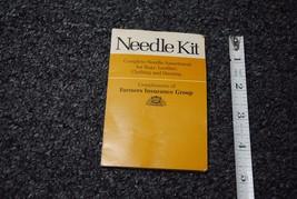 Vintage 1977 Farmer's Insurance Group Needle Emergency Sewing Needle Kit... - $8.91
