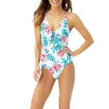 Liz Claiborne Floral One Piece Swimsuit Size 14, 16 Msrp $89.00 New    - $42.99