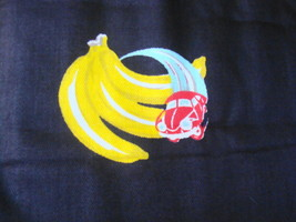 Yellow Banana Red Car Black Background Vintage Fabric Unusual - $32.00