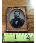 "Ambrotype Silhouette of Bearded Man ""Lincoln Looking"" Named in Brass Fra... - $30.00"