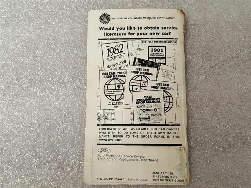 1982 EXP  Owners Manual 15922