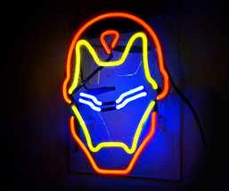 "Handmade 'Iron Man' Superhero Movie Banner Art Light Neon Sign 12""x9"" - $59.00"
