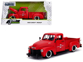 "1953 Chevrolet 3100 Pickup Truck Matt Red \""Custom Shop Classic Truck\"" ... - $34.30"
