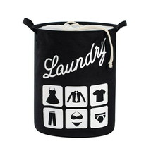 Laundry Gift Basket Drawstring Cotton Linen Collapsible Storage Bins For... - €48,55 EUR