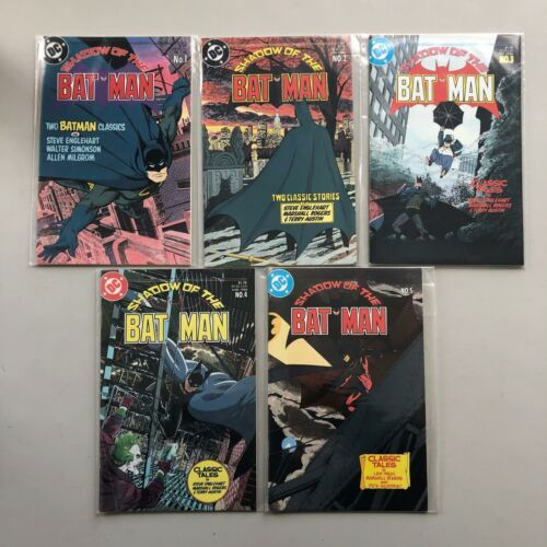 Complete Set Lot of Shadow of the Batman (1985) #1-5 VF-NM Near Mint