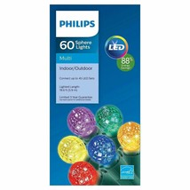 Philips 60ct Multi LED Faceted Sphere String Christmas Lights - C5 - $12.86