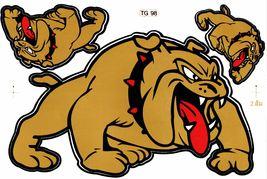 D300 Bulldog dog Sticker Decal Racing Tuning Size 27x18 cm / 10x7 inch - $3.49