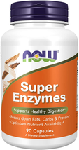 NOW Supplements, Super Enzymes, Formulated with Bromelain, Ox Bile, Pancreatin - $15.83