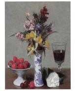"11x14""Poster on Canvas.Home Room Interior design.Flower bouquet vase.6477 - $28.05"