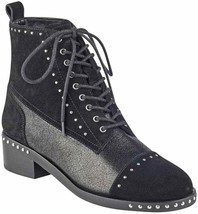 Marc Fisher LTD Cassidey Black Multi Suede Bootie, Size 8.5 - $76.99
