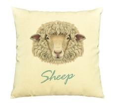 Portrait Of Ram Or Sheep Print Cotton Throw Pillows Cover Cushion Case V... - €9,06 EUR