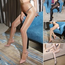 Shiny Glossy Crotch/Crotchless Sheer Stockings Club Dance Nylon Tights Pantyhose - $6.44+