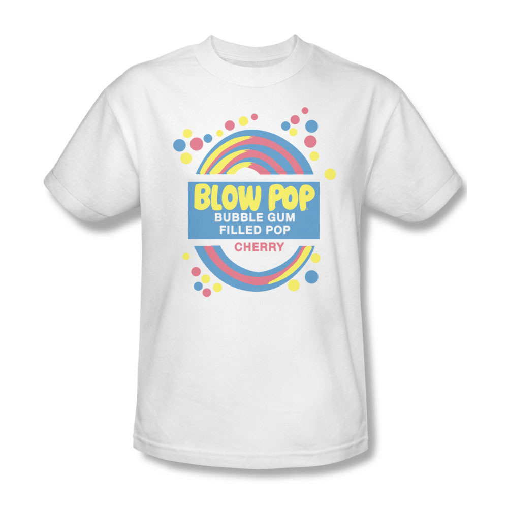 Blow pop cherry filled bubble gum pop charms company for sale online graphic tee tr103 at