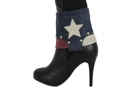 Western Women Boot Bracelet Strap Gold Metal Chains Bling Shoe Texas USA Flag TX - $20.57