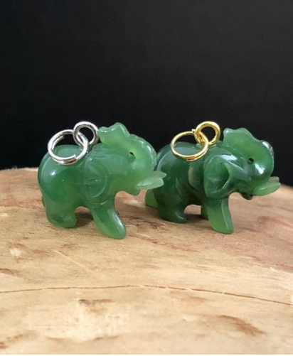 Primary image for Elephant Nephrite Jade Charm