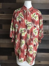 90s GUESS Georges Marciano Cowboy Print Cotton Button Up Shirt Mens Xl H... - $21.87