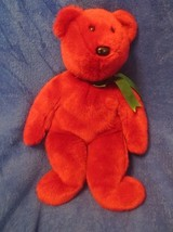 Ty Beanie Buddy Cranberry Teddy Old Face NO TAGS 1998 - $26.72