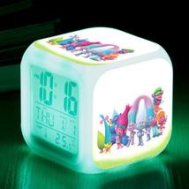 Trolls Toys Movie Cartoon #08 Led Alarm Clock Figures LED Alarm Clock - $25.99