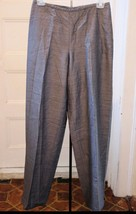 Liz Claiborne Pants 6 Gray Wool Blend Career Flat Front Dress Slacks Small - $16.64