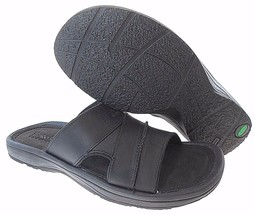 TIMBERLAND 3328A MEN'S BLACK LEATHER SLIDE SANDALS sz 7, 8 - $52.79
